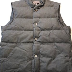 Vince Men's Down Wool Vest Size XL